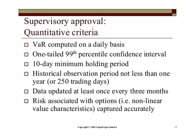 Regulatory reporting of market risk underthe Basel III framework