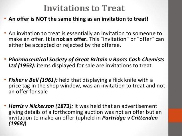 Invitations To Treat 7