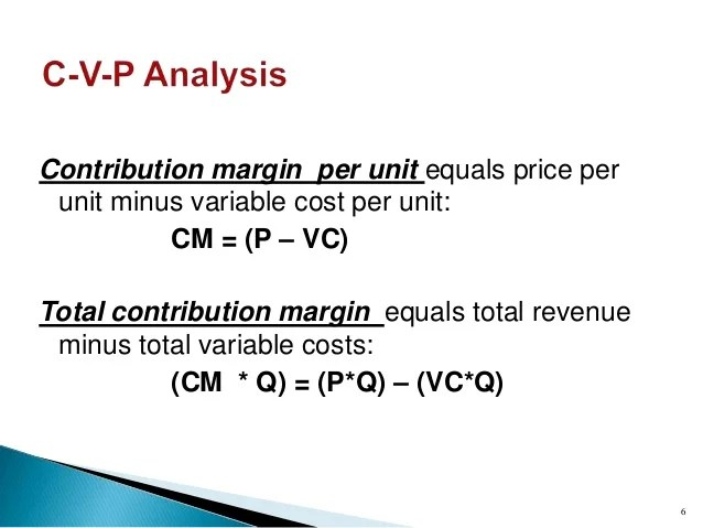Definition Of Contribution Margin Business Economics A