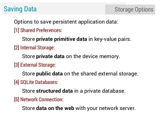 Lecture 5 Storage Saving Data Database Files  Preferences