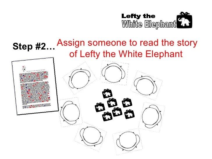 Lefty The White Elephant Gift Game