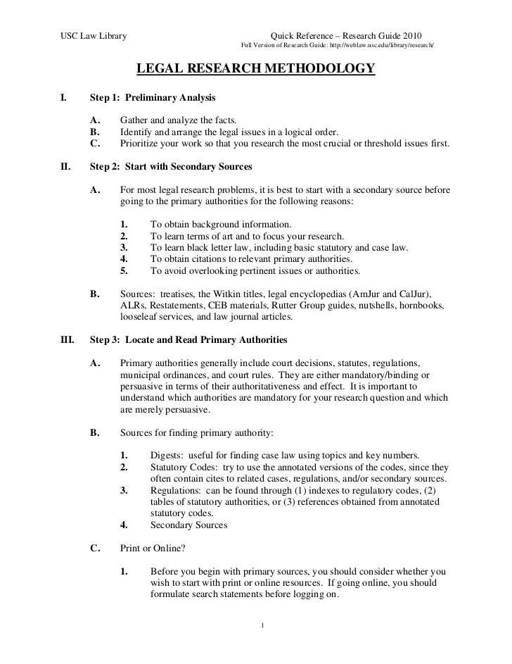 Image Slidesharecdn Com Legalresearchmethodology 1