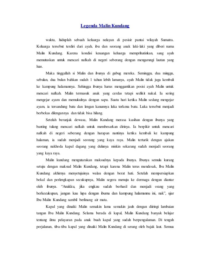Cerita Malin Kundang Dalam Bahasa Inggris : cerita, malin, kundang, dalam, bahasa, inggris, Legenda, Malin, Kundang