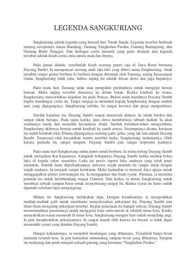 Cerita Sangkuriang Dalam Bahasa Inggris : cerita, sangkuriang, dalam, bahasa, inggris, Legenda, Sangkuriang