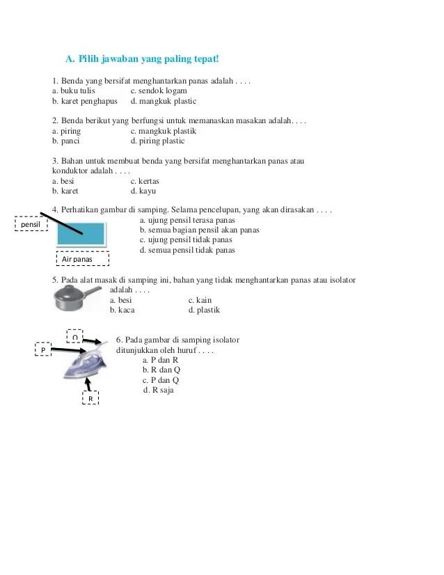 Benda Isolator Panas : benda, isolator, panas, Lembar, Evaluasi