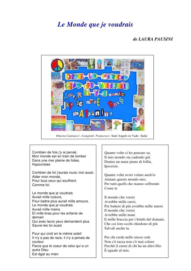 Toutes Les Chansons Du Monde : toutes, chansons, monde, Monde, Voudrais, Chansons