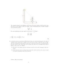 Lesson 13: Related Rates (worksheet solutions)