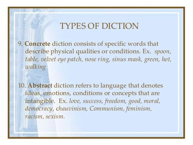 abstract diction definition
