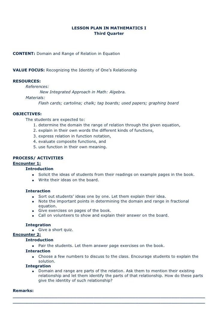 medium resolution of Lesson plan recipe math