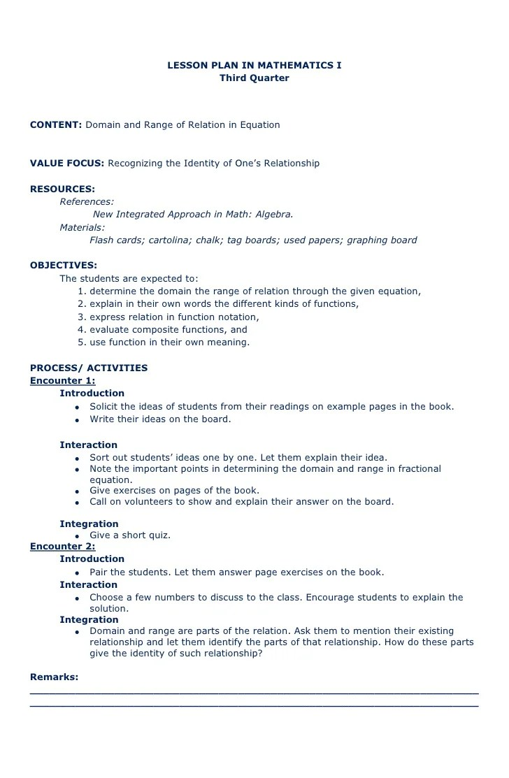 hight resolution of Lesson plan recipe math