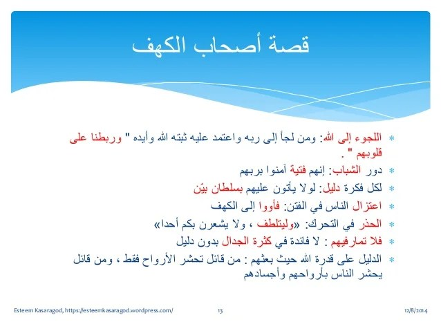 Lessons From Surat Al Kahf