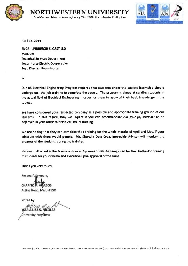 sample of a memorandum letter