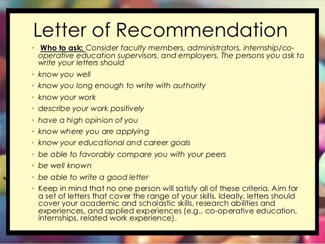 should you ask for a letter of recommendation in person