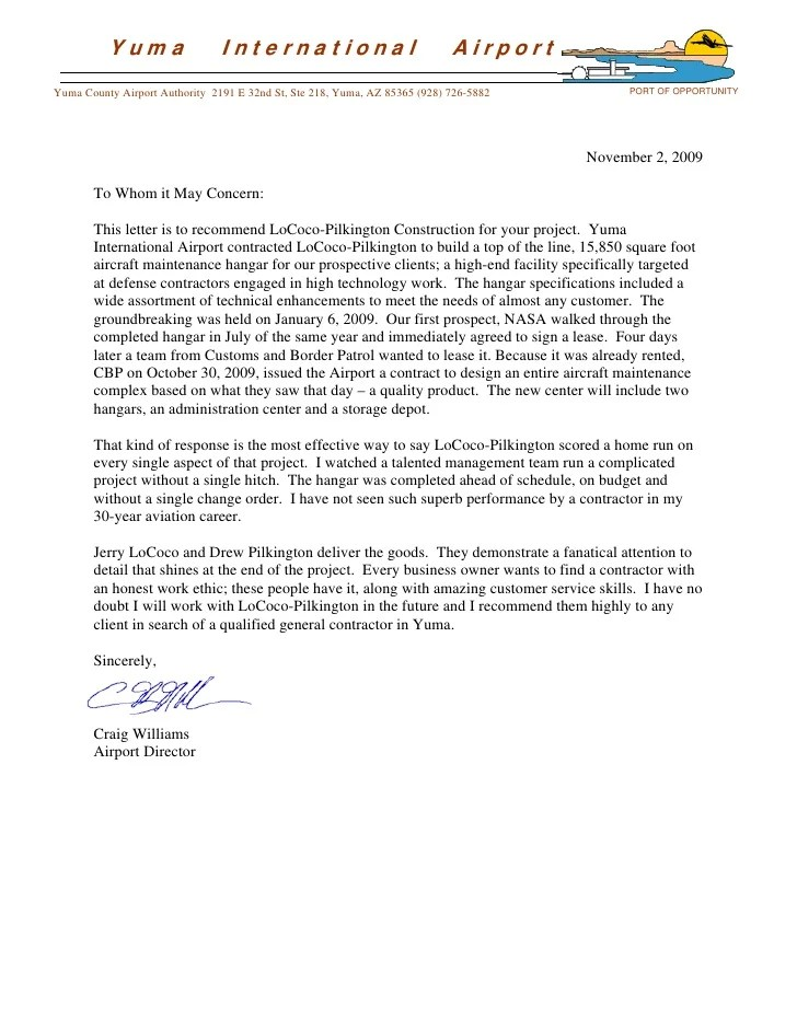 Thesis recommendation letter