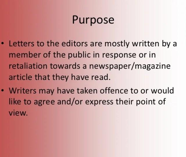 3 Purpose E2 80 A2 Letters To The Editors