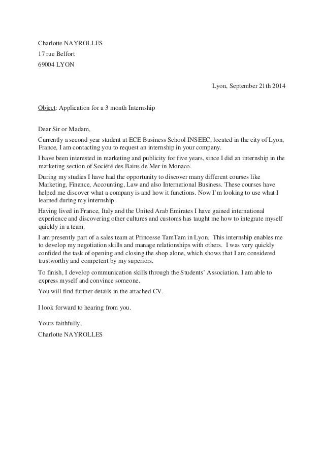 lettre de motivation francais