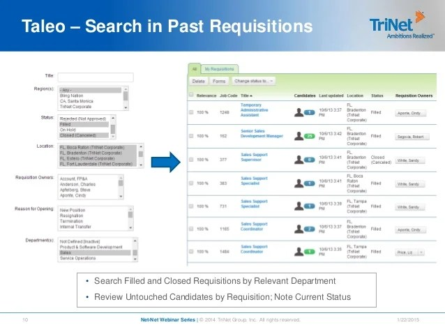 resume under review taleo