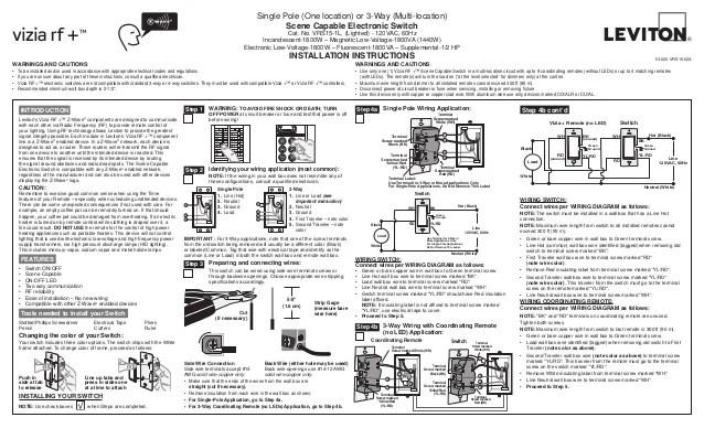 Leviton Light Switch Installation Instructions