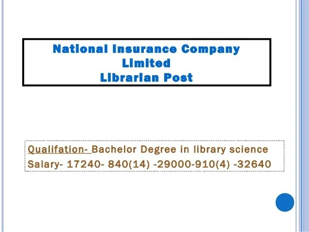 Librarian (National institute of Healthand Family Welfare) Delhi Pay band- 9300-34800 + grade pay 4600 Essential Qualifica...