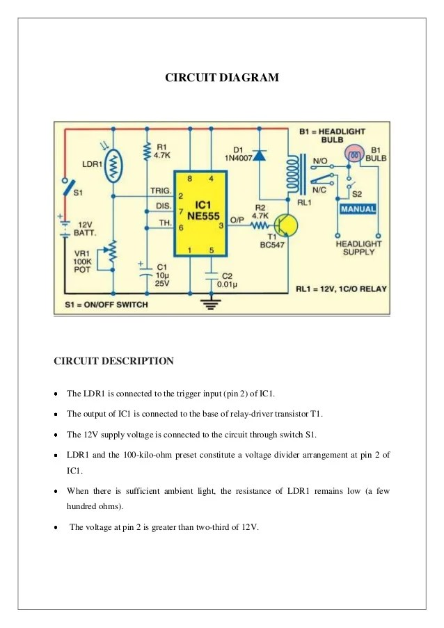 wiring diagram for contactor and overload how to do orbital diagrams automatic head light dimmers
