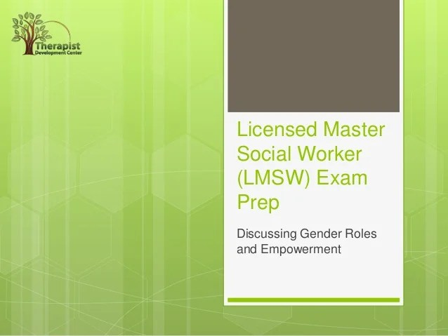Licensed Master Social Worker (lmsw) Exam