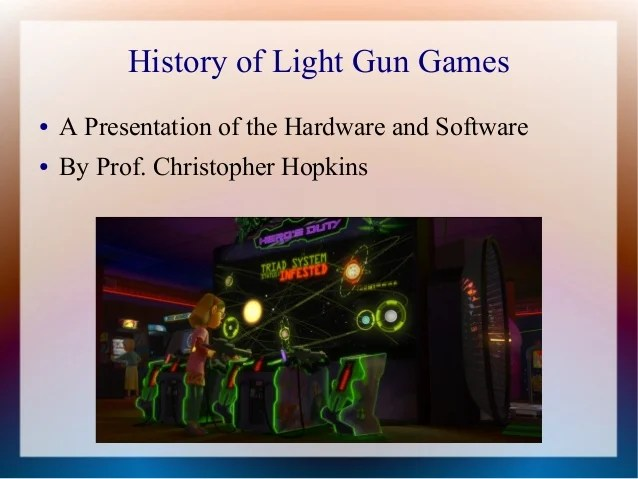 History Of Light Gun Games