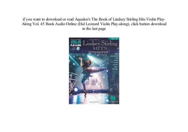 ^^free online Lindsey Stirling Hits Violin Play-Along Vol ...