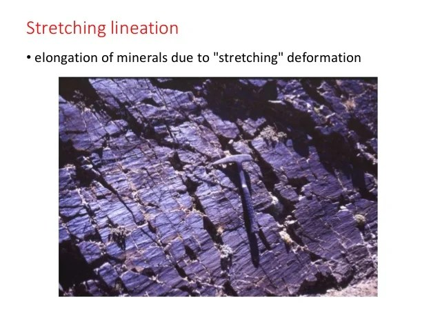 Lineation and foliation