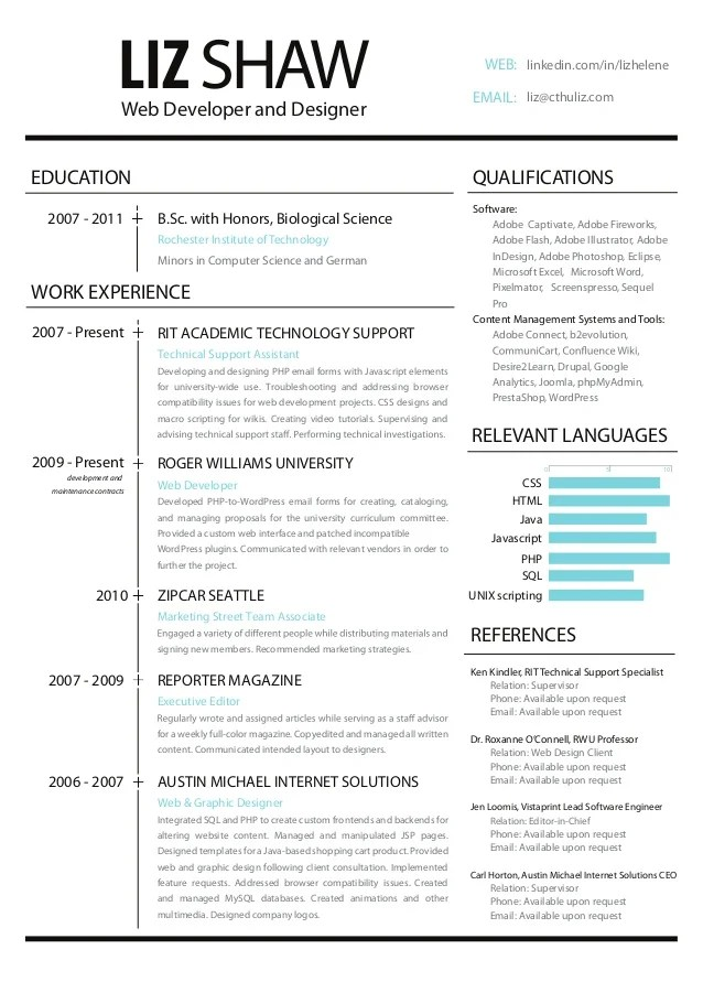 Web Development Resume Examples - Examples of Resumes