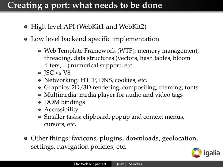 Creating a port: what needs
