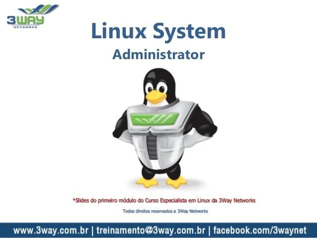 Linux System Administrator  Curso de Redes  3Way Networks