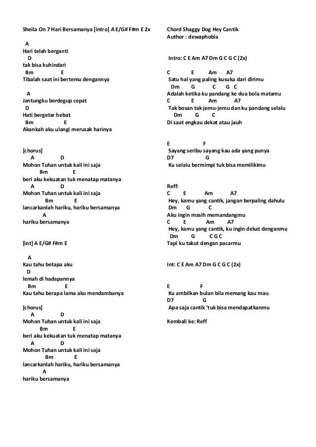 Betapa Hebat Lirik : betapa, hebat, lirik, Chord, Lirik, Sheila, Arsia