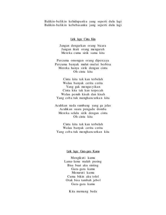 Lirik Lagu Kita Yg Beda : lirik, Lirik, Chord