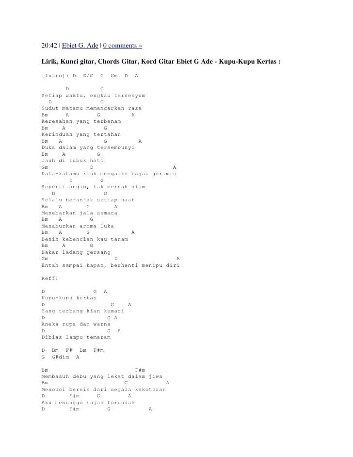 Kunci Lagu Kupu Kupu Malam : kunci, malam, Lirik, Kunci, Gitar, Malam, Arsia