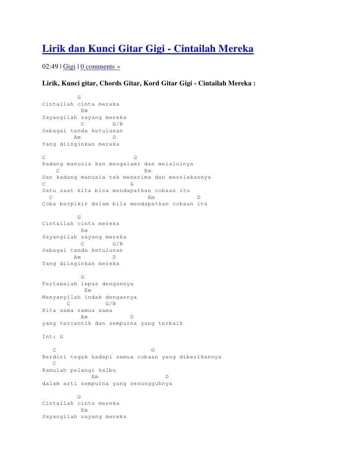 Kunci Cinta Terlarang : kunci, cinta, terlarang, Lirik, Kunci, Gitar
