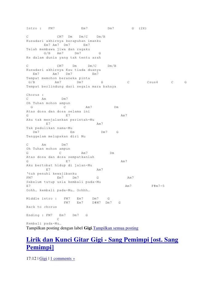 Lirik Lagu Sampai Tutup Usia : lirik, sampai, tutup, Chord, Sampai, Tutup