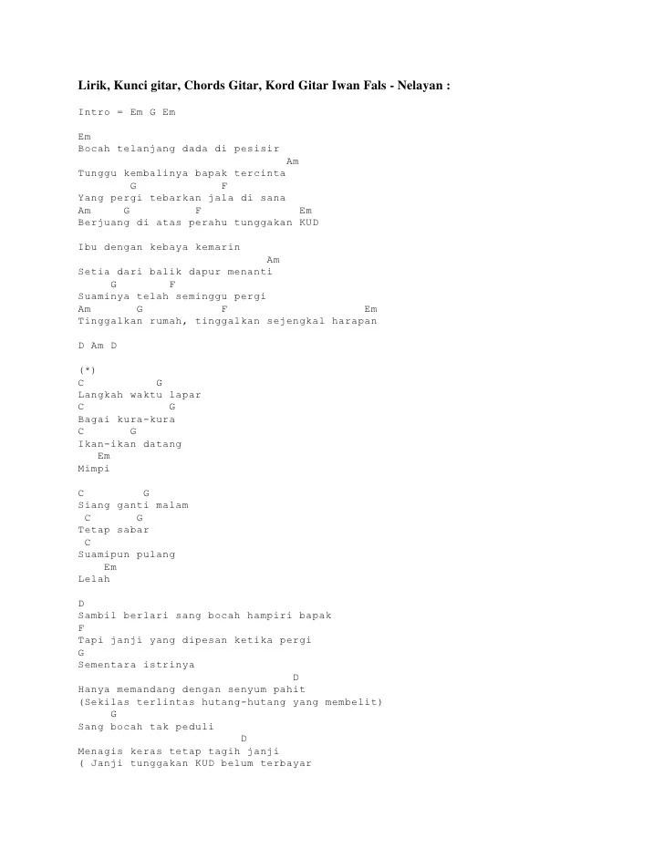 Lirik Lagu Dan Chord Gitar Ibu By Iwan Fals Omgonekoe Cute766