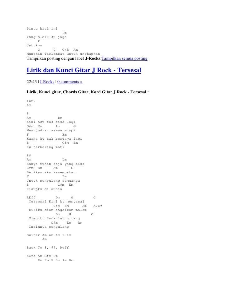 Ku Tak Akan Menyerah Chord : menyerah, chord, Lirik, Kunci, Gitar