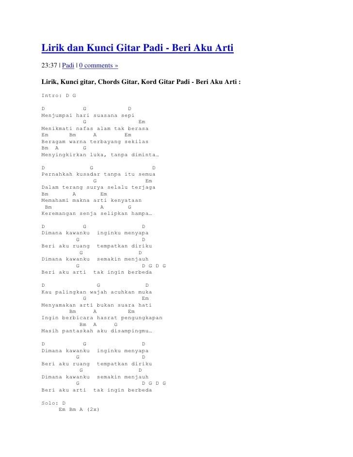 Lirik Mengejar Hadirmu : lirik, mengejar, hadirmu, Lirik, Kunci, Gitar