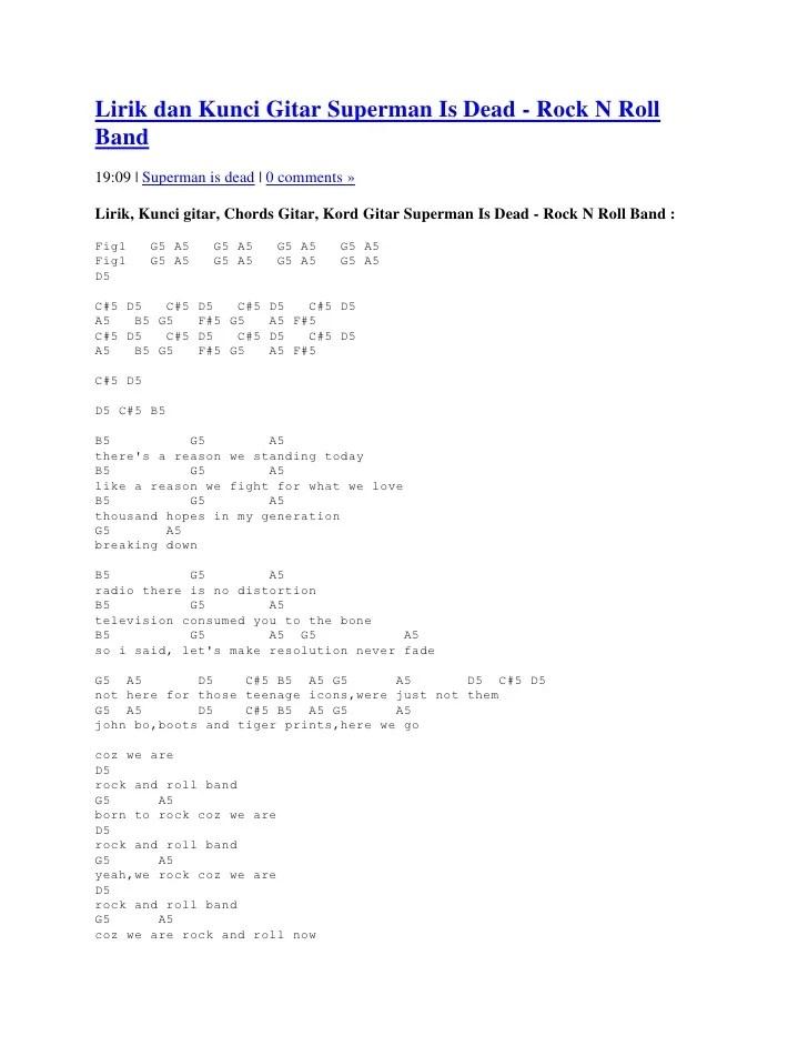 Kunci Gitar Hari Esok : kunci, gitar, Lirik, Kunci, Gitar, Superman