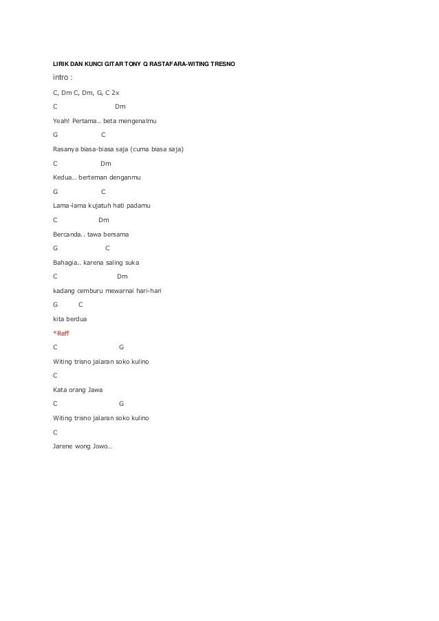 Kunci Gitar Terlena : kunci, gitar, terlena, Lirik, Kunci, Gitar, Rastafaralfd