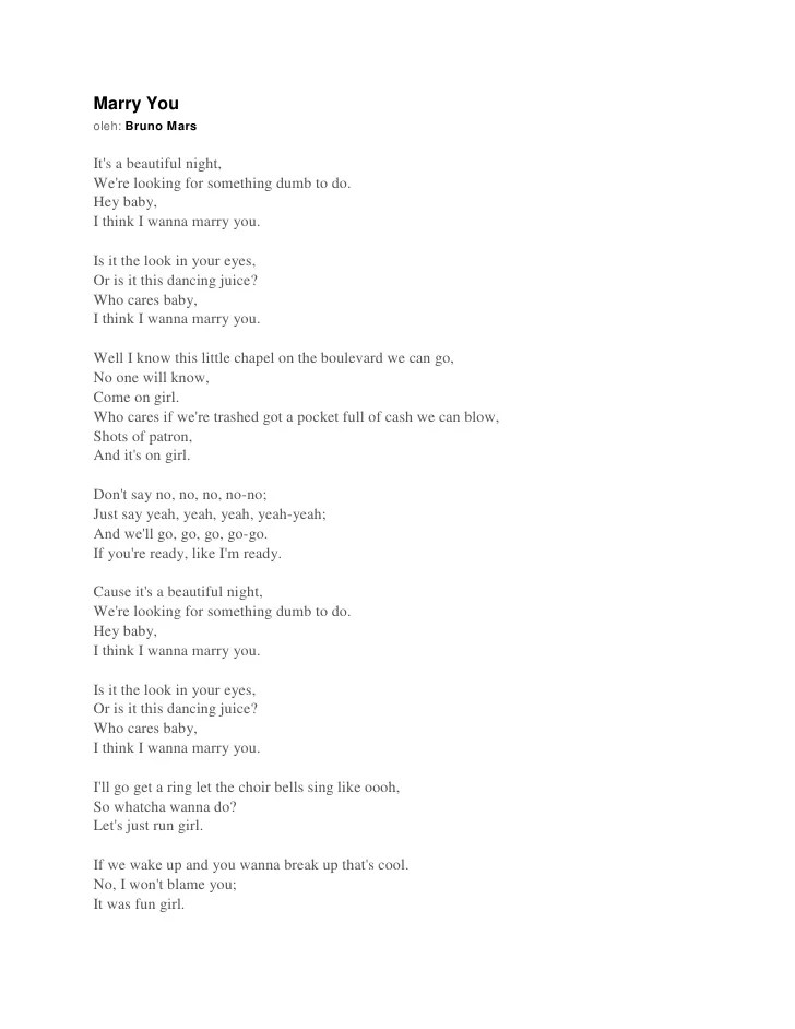 Lirik Lagu Super Junior ~ Marry You.