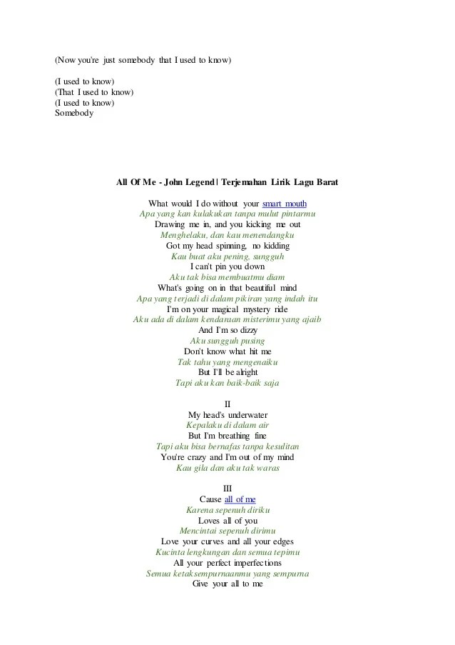 Somebody That I Used To Know (feat. Kimbra) Lyrics - Gotye | Lirik...