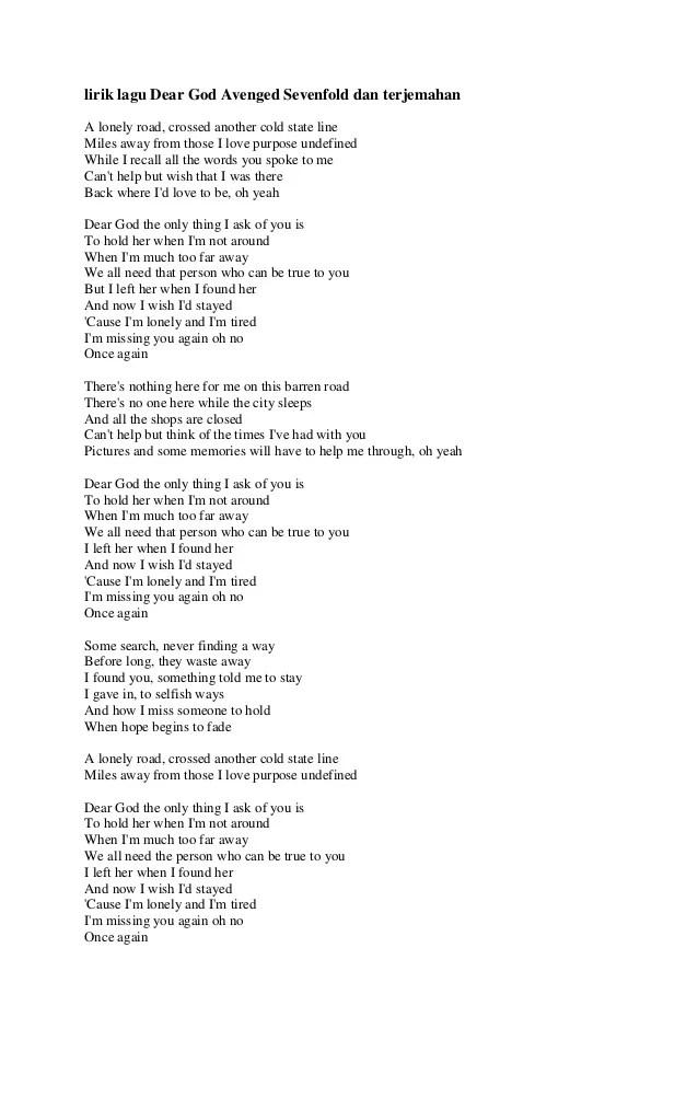 Terjemahan Lagu I Love You 3000 : terjemahan, Lirik, Terjemah