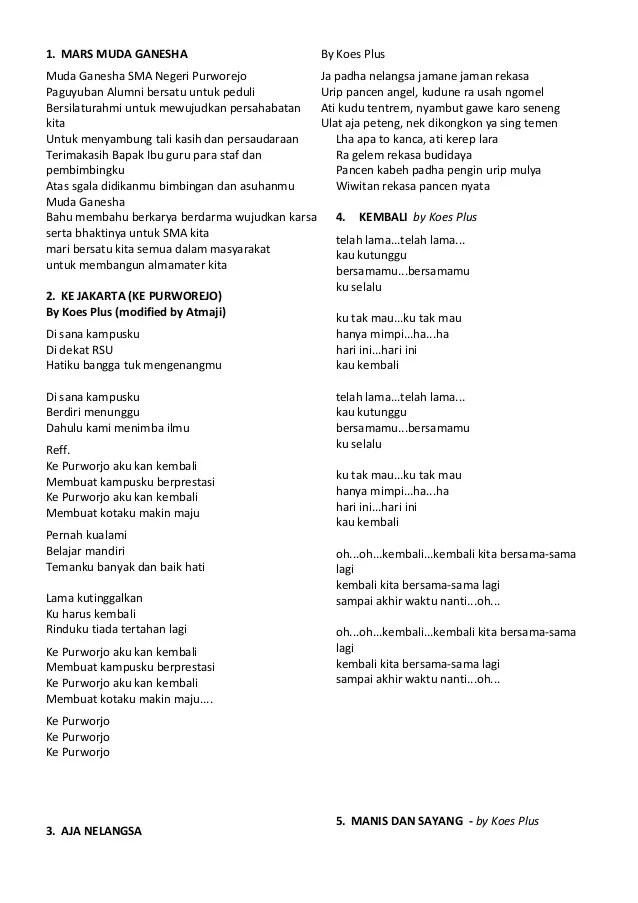 Chord Kunci Gitar dan Lirik Lagu Bujangan - Koes Plus