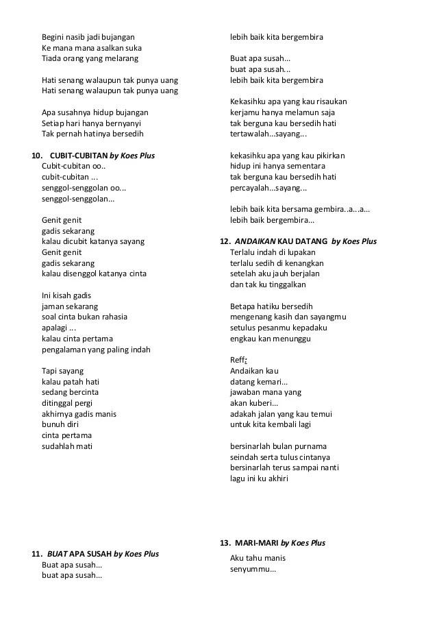 Lirik Bujangan : lirik, bujangan, Lirik