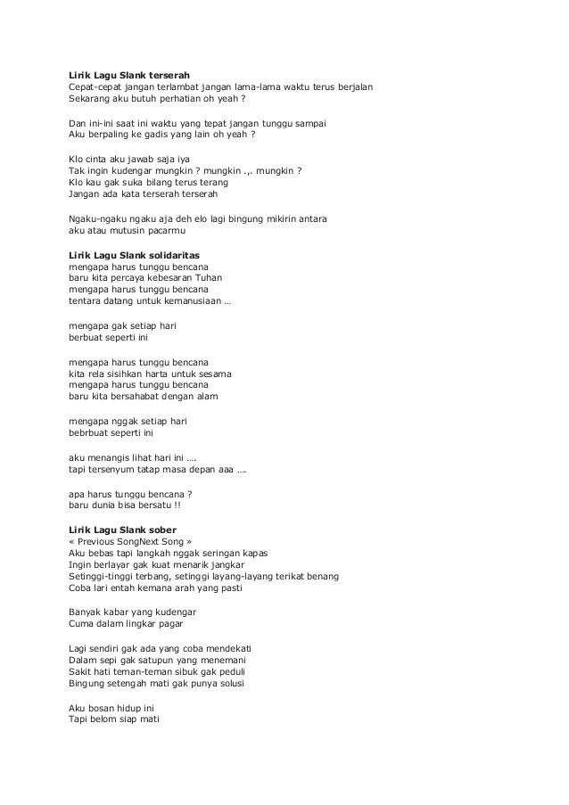 Chord Lagu Slank Solidaritas : chord, slank, solidaritas, Lirik, Slank, Cute766