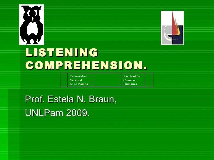 Listening Comprehension Macroskill