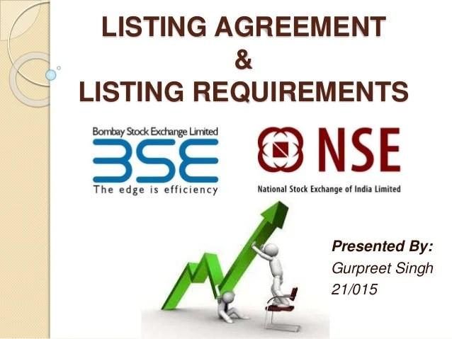 Residential Listing Agreement California Sample