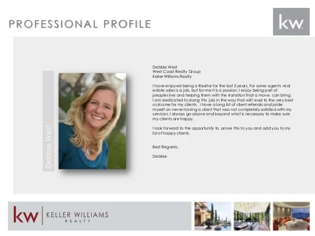 real estate agents profile samples
